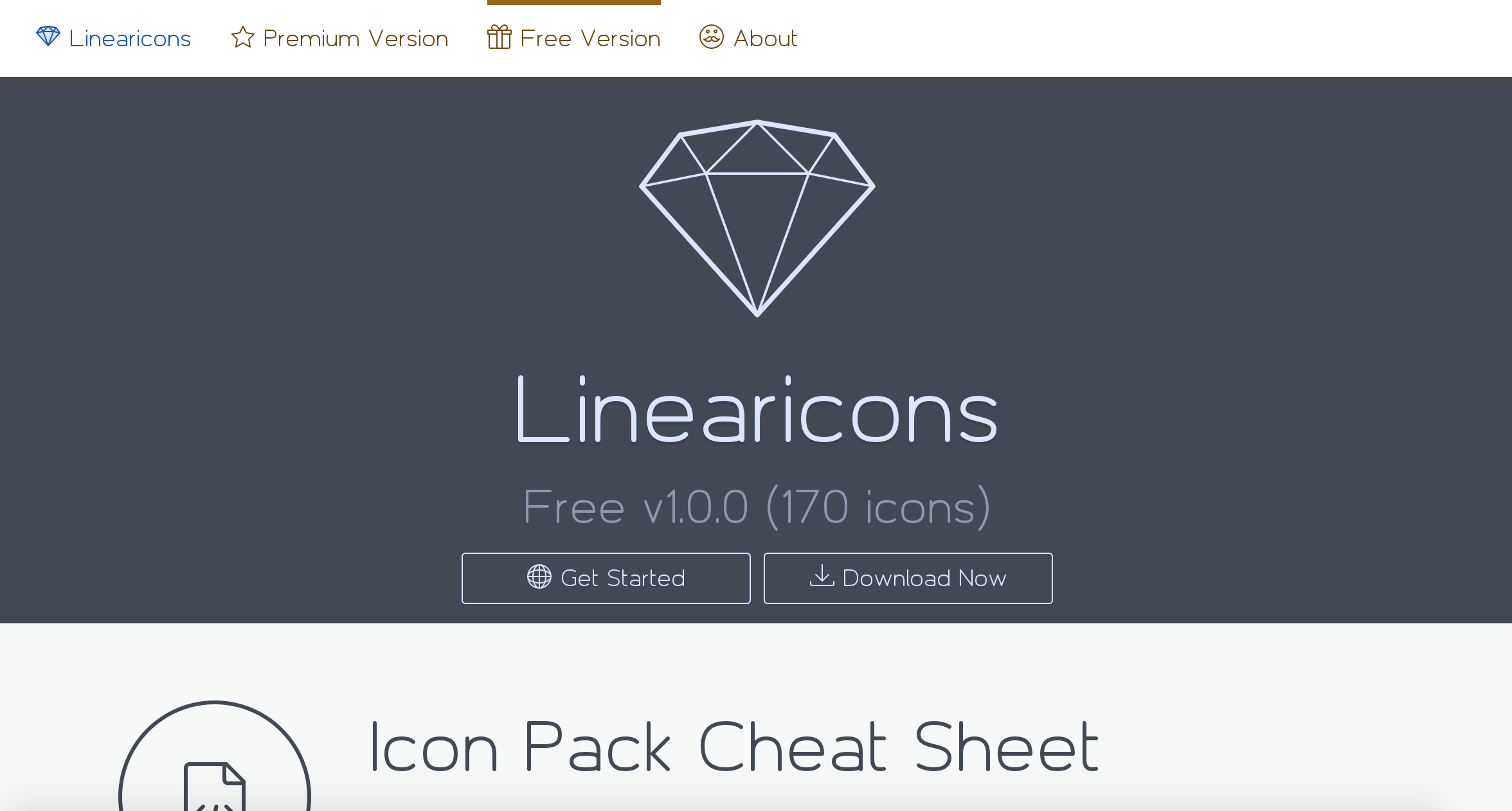 Linearicons presentation icons