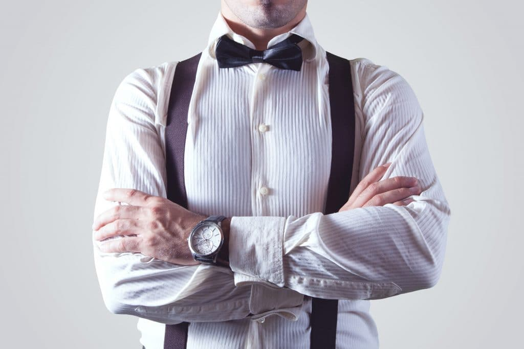 adult arms crossed bow tie 1702